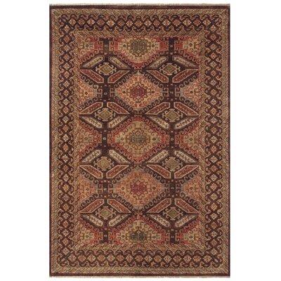 Peetz Brown/Brown Area Rug Rug Size: 96 x 136