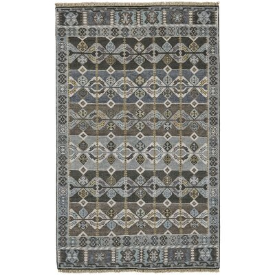 Williamsburg Steel Area Rug Rug Size: 86 x 116