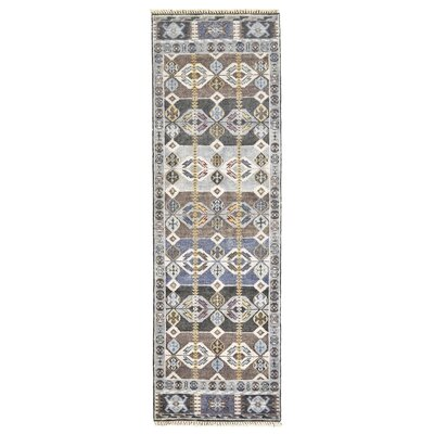 Williamsburg Steel Area Rug Rug Size: Runner 26 x 8