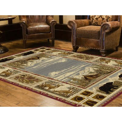 Badlands Red/Beige Area Rug Rug Size: Rectangle 8 x 11