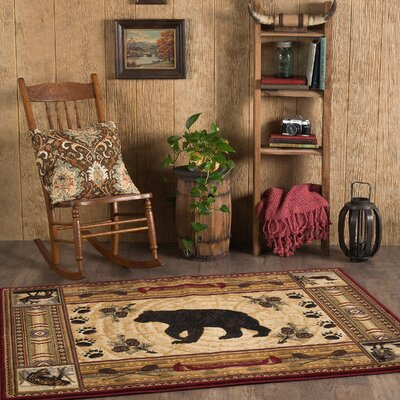 Russel Brown Area Rug Rug Size: Rectangle 4 x 6