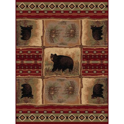Chickasha Red Area Rug