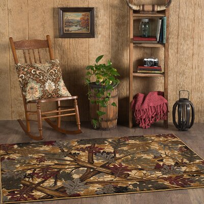 Bearpaw Beige/Brown Area Rug Rug Size: Rectangle 4 x 6