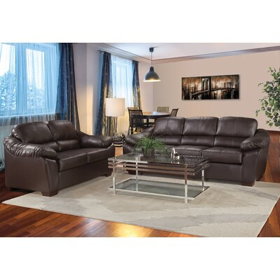 Serta The Pinery Leather Loveseat