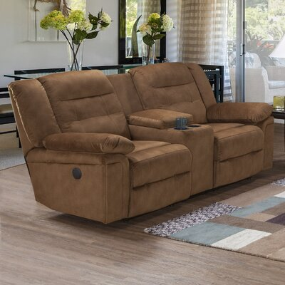 Serta Upholstery Hodgdon Power Double Recliner Sofa Upholstery: Tombstone Cranberry