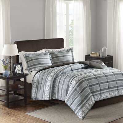 Cypress Comforter Set Size: King/California King, Color: Gray