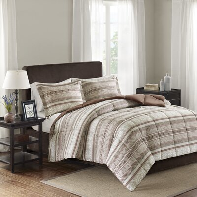 Cypress Comforter Set Size: King/California King, Color: Tan