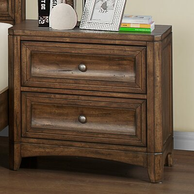Dilley 2 Drawer Nightstand