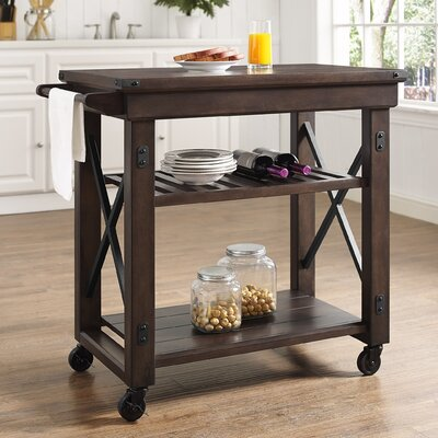 Gladstone Kitchen Island with Wooden Top Finish: Mahogany