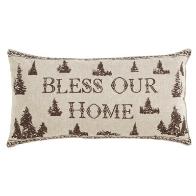 Woodland Christmas Cotton Lumbar Pillow