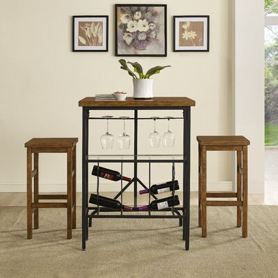 Ordway 3 Piece Dining Set Finish: Moroccan Pine