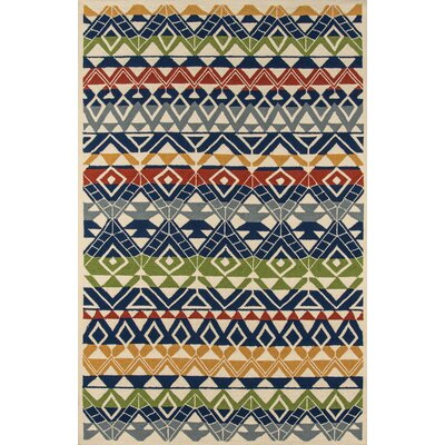 Barron Hand-Hooked Outdoor Area Rug Rug Size: Rectangle 5 x 8