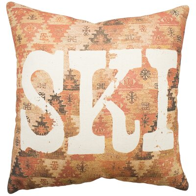 Paramount Ski Cotton Throw Pillow