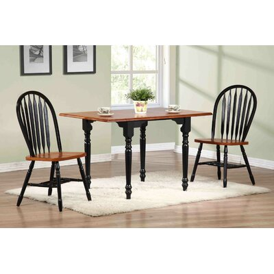 Copernicus 3 Piece Pub Table Set Pub Table Finish: Antique Black with Cherry, Chair Finish: Antique Black with Cherry
