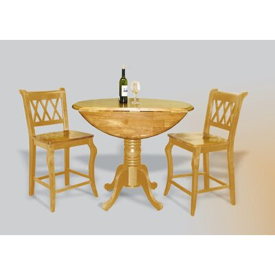 Copernicus 3 Piece Pub Table Set Finish: Light Oak