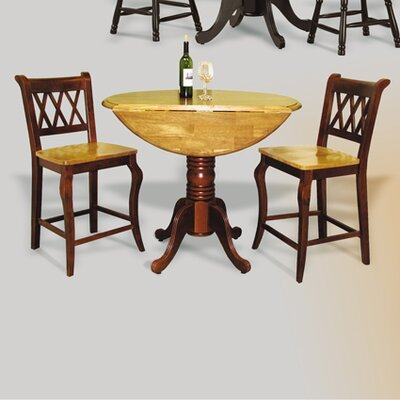 Copernicus 3 Piece Pub Table Set Finish: Nutmeg Light Oak