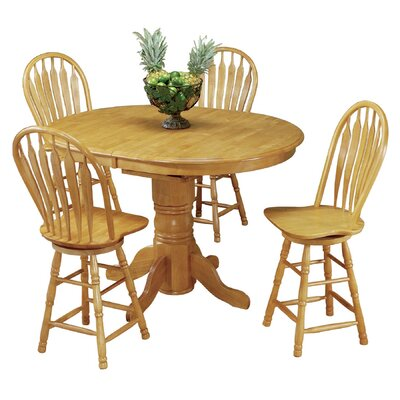 Copernicus 5 Piece Pub Table Set Finish: Light Oak