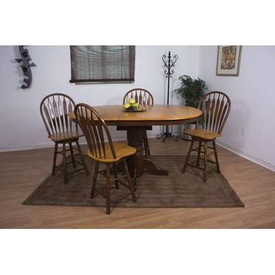 Copernicus 5 Piece Pub Table Set Finish: Nutmeg Light Oak