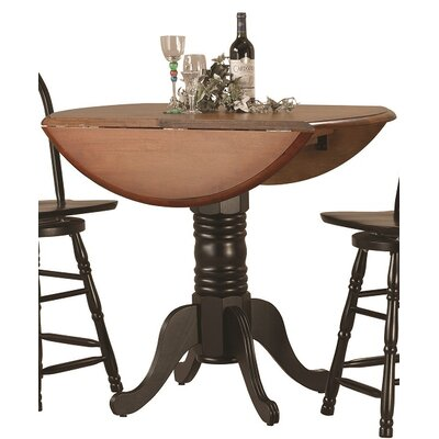 Copernicus Pub Table Finish: Antique Black with Cherry