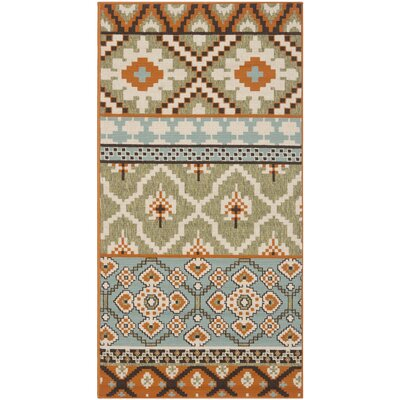 Rangely Green/Terracotta Indoor/Outdoor Area Rug Rug Size: Rectangle 8 x 112