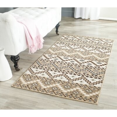 Rangely Creme / Brown Outdoor Rug Rug Size: Runner 27 x 5