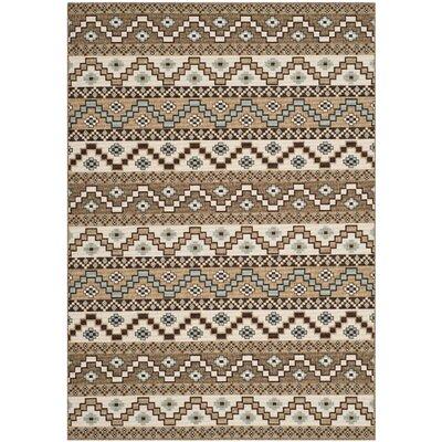 Rangely Creme / Brown Outdoor Rug Rug Size: 67 x 96