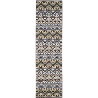 Rangely Blue / Creme Outdoor Southwestern Rug Rug Size: Runner 23 x 8