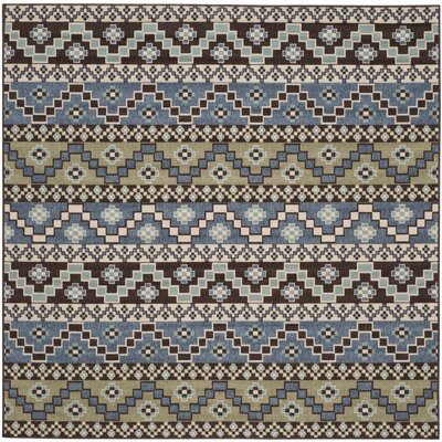 Rangely Blue / Creme Outdoor Southwestern Rug Rug Size: Square 67
