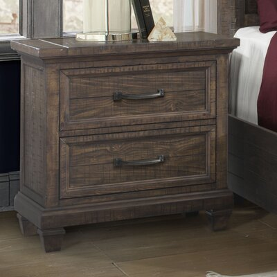 Hysham 2 Drawer Nightstand