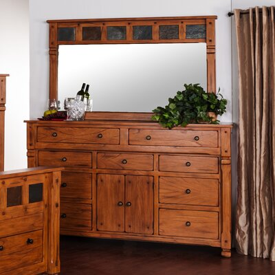 Hawthorne 9 Drawer Combo Dresser with Mirror