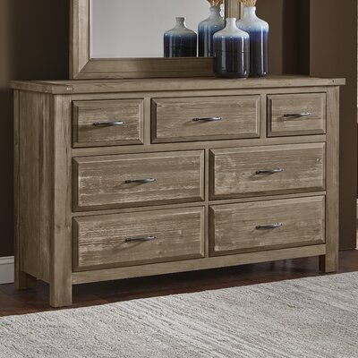 Fairfield 7 Drawer Dresser Color: Weathered Gray