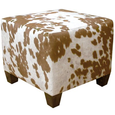 Ponca City Cube Ottoman Upholstery: Tan/White