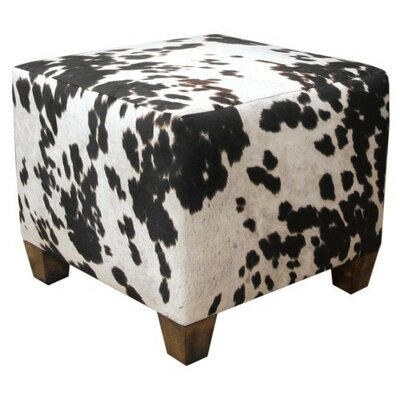 Ponca City Ottoman Upholstery: Udder Madness Domino