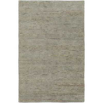Cumberland Plateau Hand-Woven Denim/Khaki Area Rug Rug size: Rectangle 8 x 11