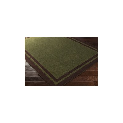 Cascade Range Rifle Green/Coffee Bean Area Rug Rug Size: 110 x 211