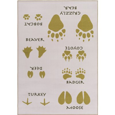 Cascade Range Vaporous Gray/Moss Area Rug Rug Size: Rectangle 5 x 8