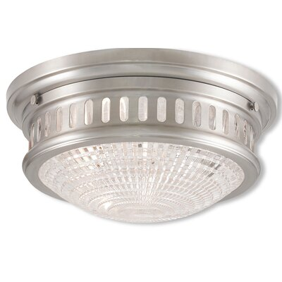 Capitola 2-Light Flush Mount Finish: Brushed Nickel