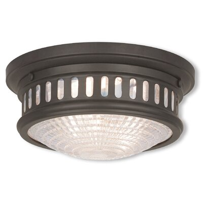 Capitola Flush Mount Finish: Bronze, Size: 6.5 H x 15 D