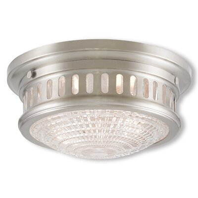 Capitola Flush Mount Finish: Polished Nickel, Size: 5 H x 11 D