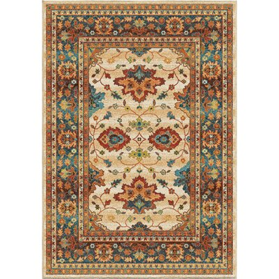 Canyonwood Brown/Red Area Rug Rug Size: 53 x 76