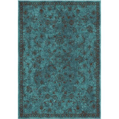 Canyonwood Blue/Brown Area Rug Rug Size: 53 x 76