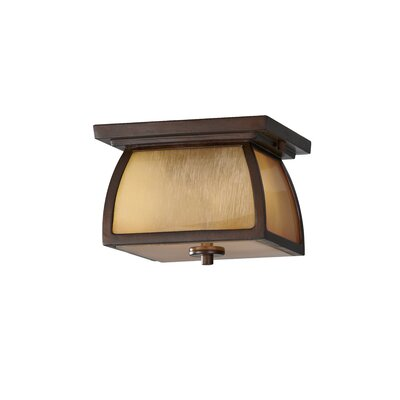 Alhambra 2-Light Flush Mount Finish: Sorrel Brown