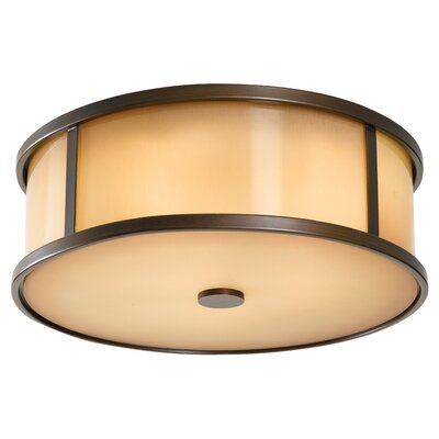 Hood 2-Light Flush Mount