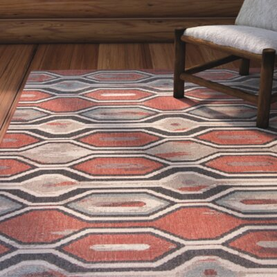 Condon Rust Indoor/Outdoor Area Rug Rug Size: 33 x 411