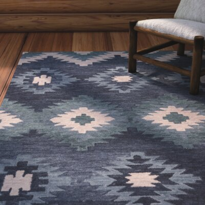 Harrison Hand-Tufted Blue Area Rug Size: Runner 26 x 8