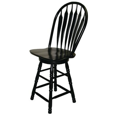 Banksville 30 Swivel Bar Stool Finish: Antique Black