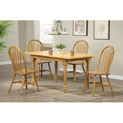 Banksville Butterfly 5 Piece Dining Set Finish: Light Oak