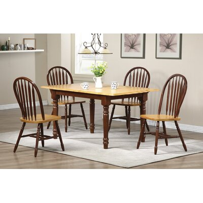 Banksville Butterfly 5 Piece Dining Set Finish: Nutmeg Light Oak