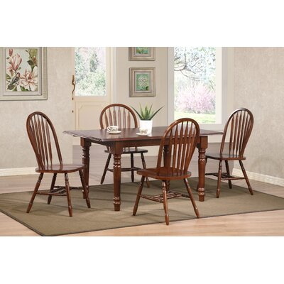 Banksville Butterfly 5 Piece Dining Set Finish: Chestnut