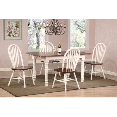 Banksville Butterfly 5 Piece Dining Set Finish: Antique White
